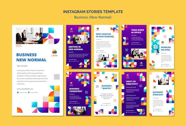 Novas histórias normais do instagram de negócios