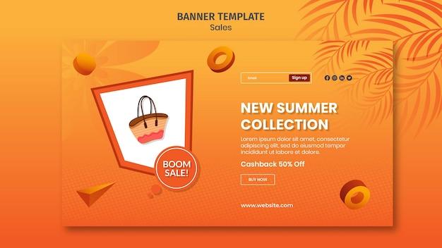 Novo banner da coleção de verão