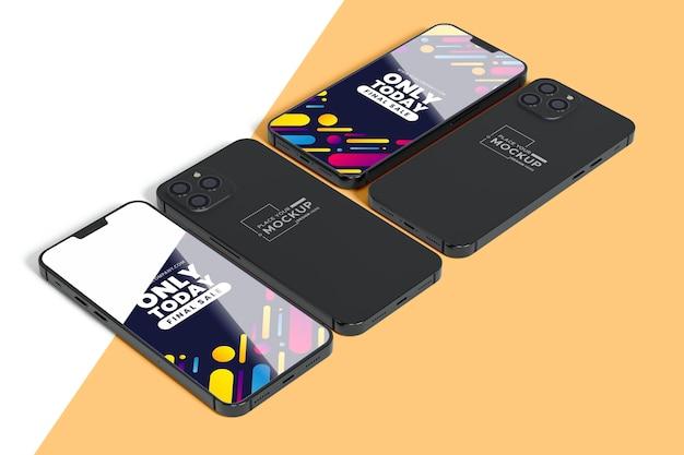 Novo celular com mock-up