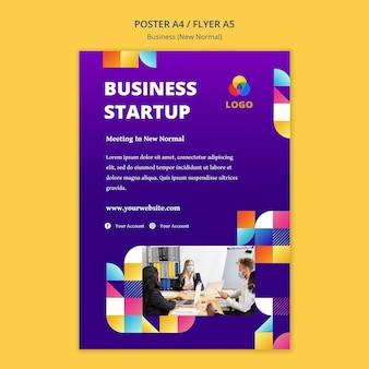 Novo conceito de cartaz normal de negócios