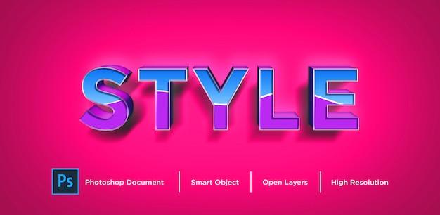 Novo estilo de efeito de texto design photoshop layer style