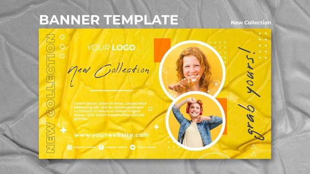 Novo modelo de banner de conceito de coleção