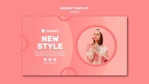 Novo modelo de banner de estilo