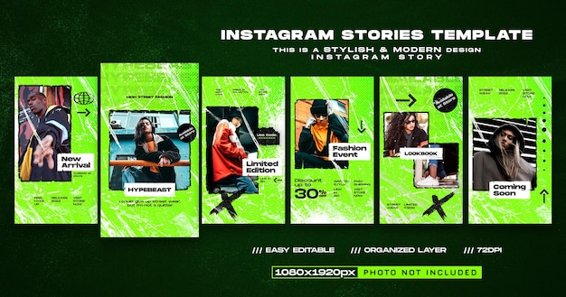 Novo modelo de design de histórias instagram de chegada