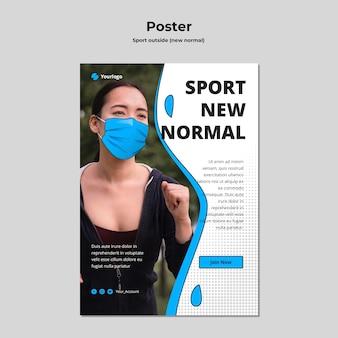 Novo modelo de folheto normal com foto