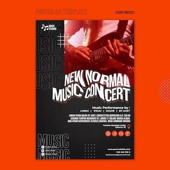 Novo modelo de impressão de concerto de música normal