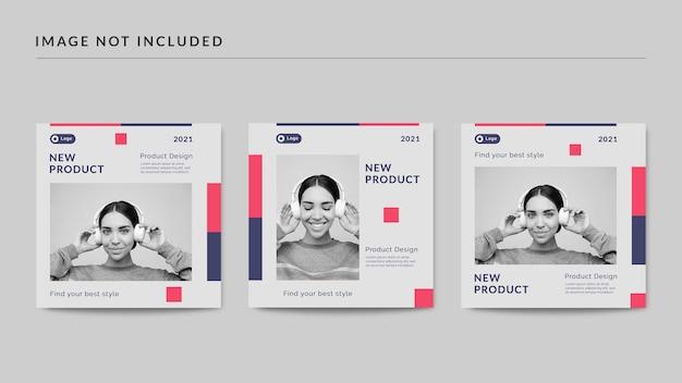 Novo modelo de postagem de mídia social de produto
