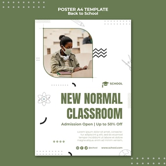 Novo modelo de pôster normal de sala de aula