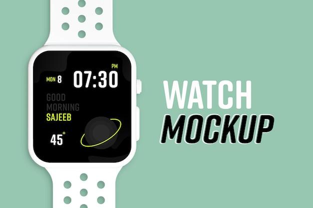 Novo modelo de tela de relógio inteligente moderno