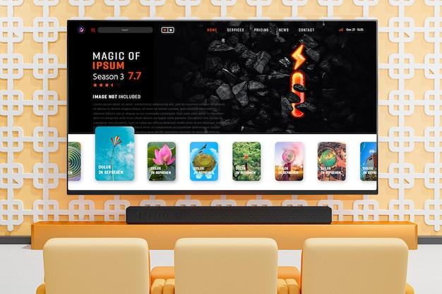 Novo modelo editável de tela de televisão moderna