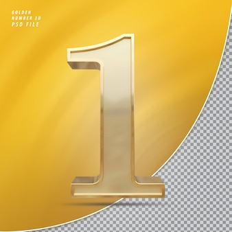 Número 1 ouro