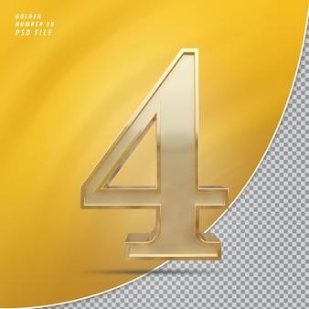Número 4 ouro