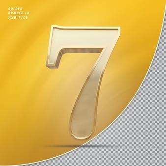 Número 7 ouro