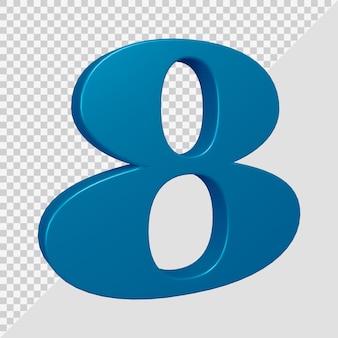Número 8 em renderização 3d
