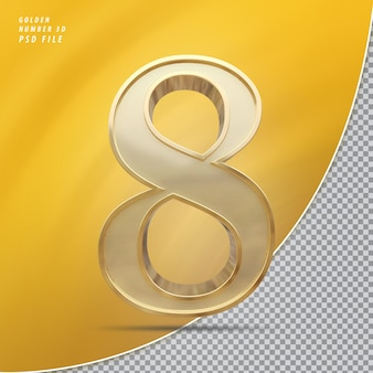Número 8 ouro