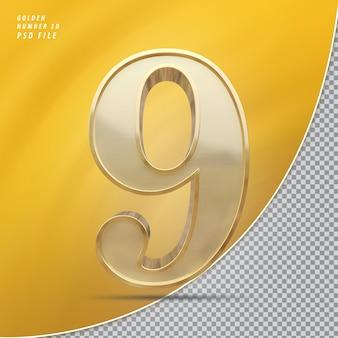 Número 9 ouro