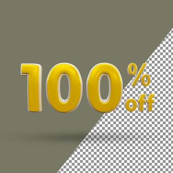 Número de texto dourado 3d com 100% de desconto