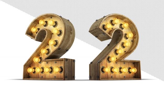 Número sinal de lâmpada