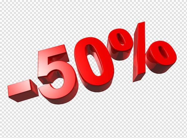 Números 3d de 50%