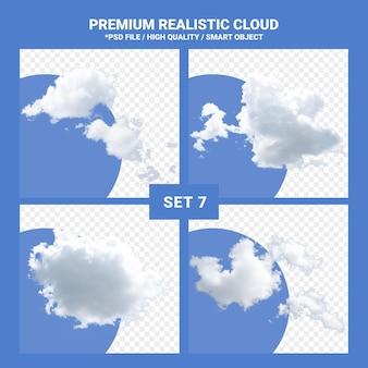 Nuvem branca realista definida para o céu azul