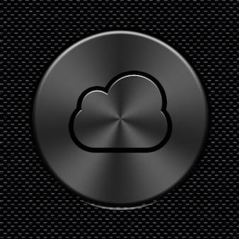 Nuvem de carbono fibra ícone metálico