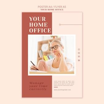 O design do cartaz do seu escritório em casa