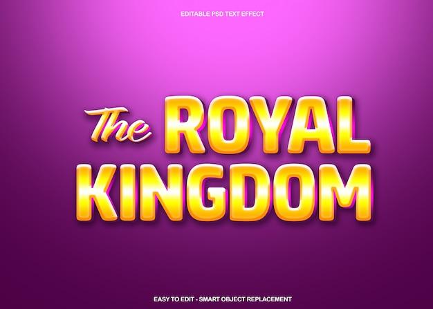 O efeito de texto do reino real