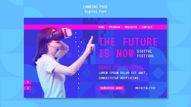 O futuro agora é a página de destino