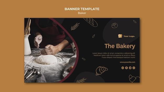 O modelo de banner de padaria