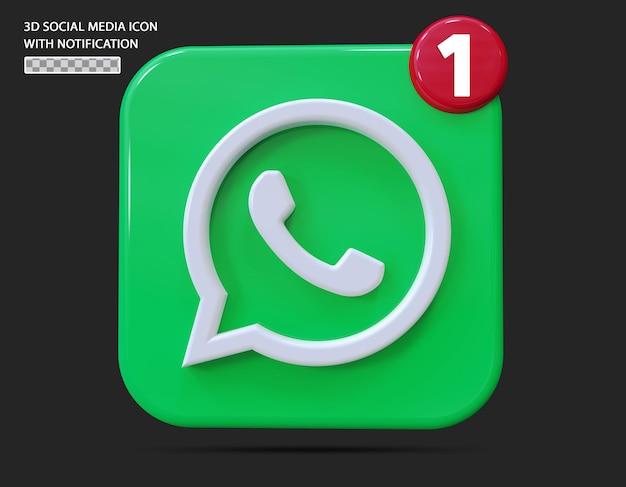 O que é ícone do aplicativo com estilo 3d de notificação