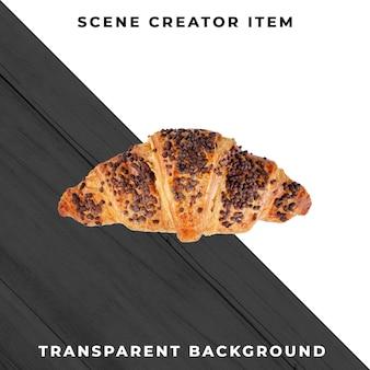 Objeto de cookie em psd transparente