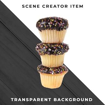 Objeto de muffin em psd transparente