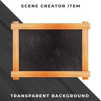 Objeto de quadro-negro transparente psd