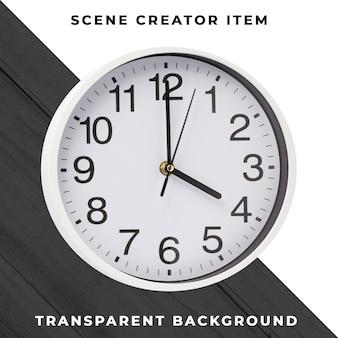 Objeto de relógio de parede transparente psd