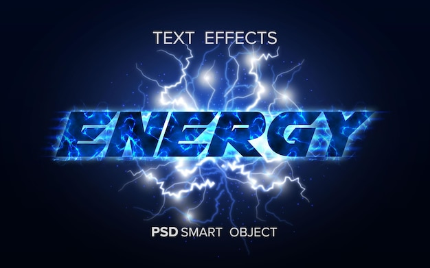 Objeto inteligente de efeito de texto de energia