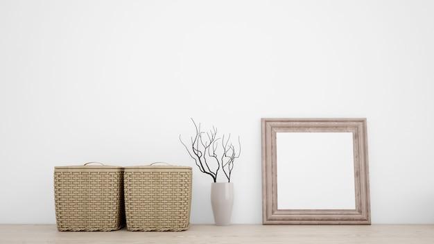 Objetos decorativos internos para um estilo minimalista