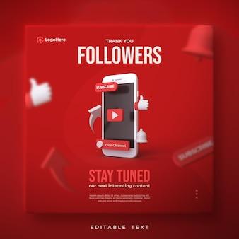 Obrigado postar para seguidores do youtube com renderização em 3d