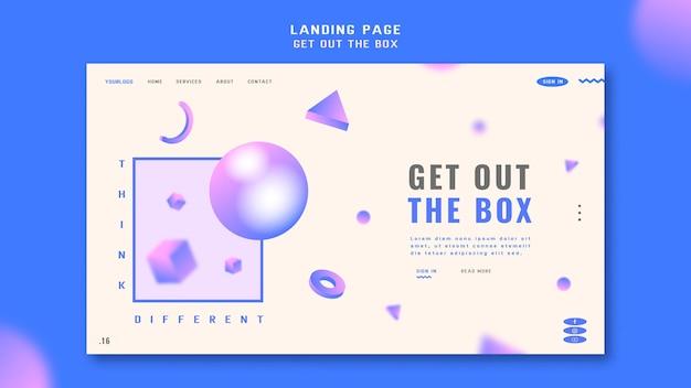 Obtenha o modelo da página de destino da caixa