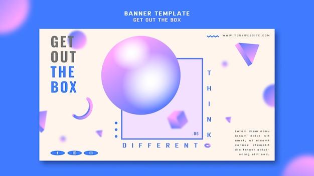 Obtenha o modelo de banner de conceito de caixa