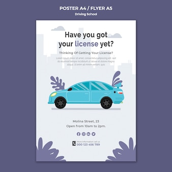 Obter modelo de folheto de carteira de motorista