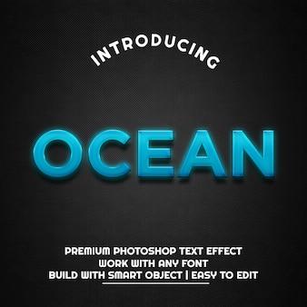 Oceano - modelo de efeito de texto