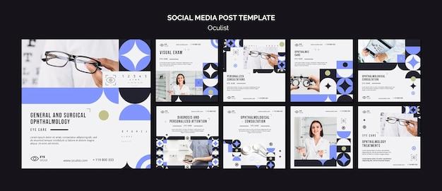 Oculist social media post template