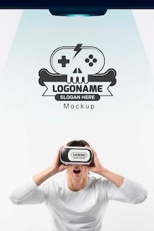 Óculos de conceito vr de tecnologia