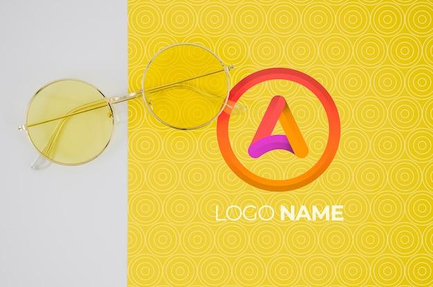 Óculos de verão com design de nome de logotipo