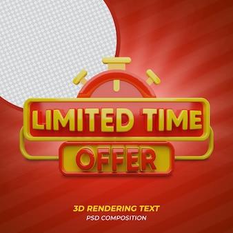 Oferta 3d por tempo limitado