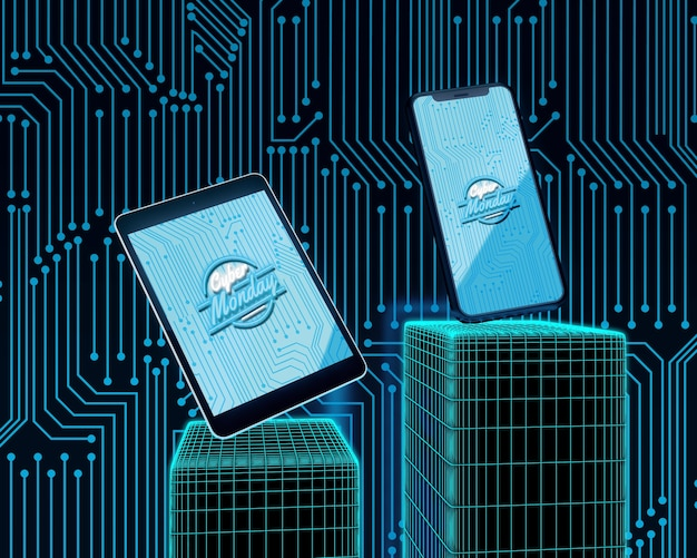 Oferta cyber segunda-feira para tablet e telefone