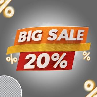 Oferta de 20% de grande venda 3d