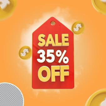 Oferta de 35 por cento de venda 3d