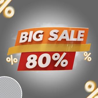 Oferta de 80% de grande venda 3d