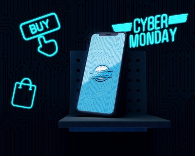 Oferta de compra do telefone cyber segunda-feira